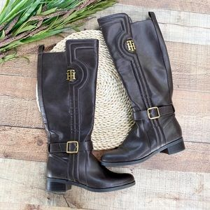 Tommy Hilfiger || Leather Knee High Boots